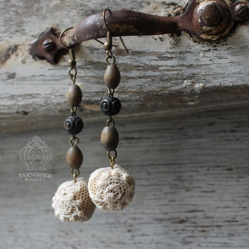 lace_ball_rosary_beads_earrings